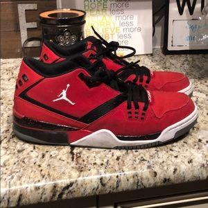 Men's red Jordan's